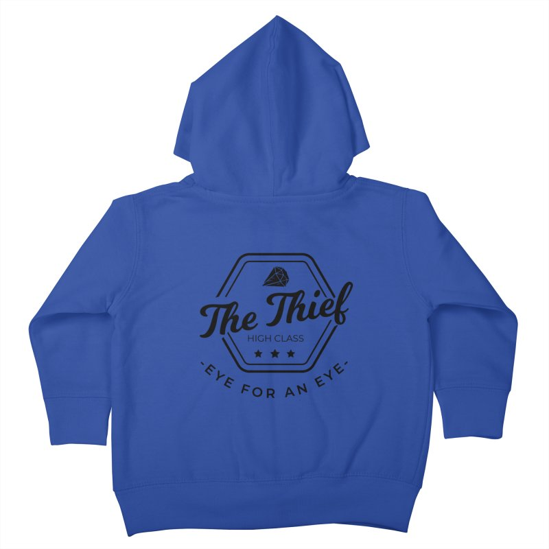 Pippa - Rogue - Black Kids Toddler Zip-Up Hoody by fantastic worlds pod's Artist Shop