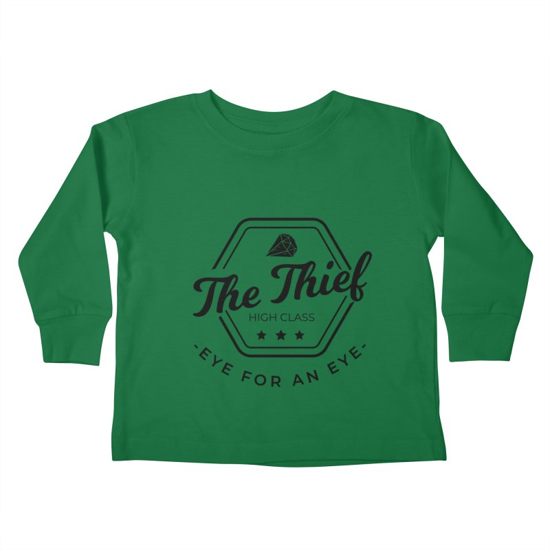 Pippa - Rogue - Black Kids Toddler Longsleeve T-Shirt by fantastic worlds pod's Artist Shop