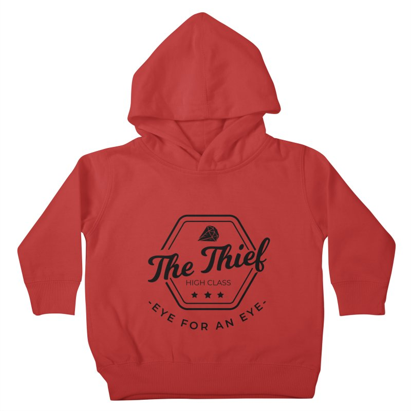 Pippa - Rogue - Black Kids Toddler Pullover Hoody by fantastic worlds pod's Artist Shop