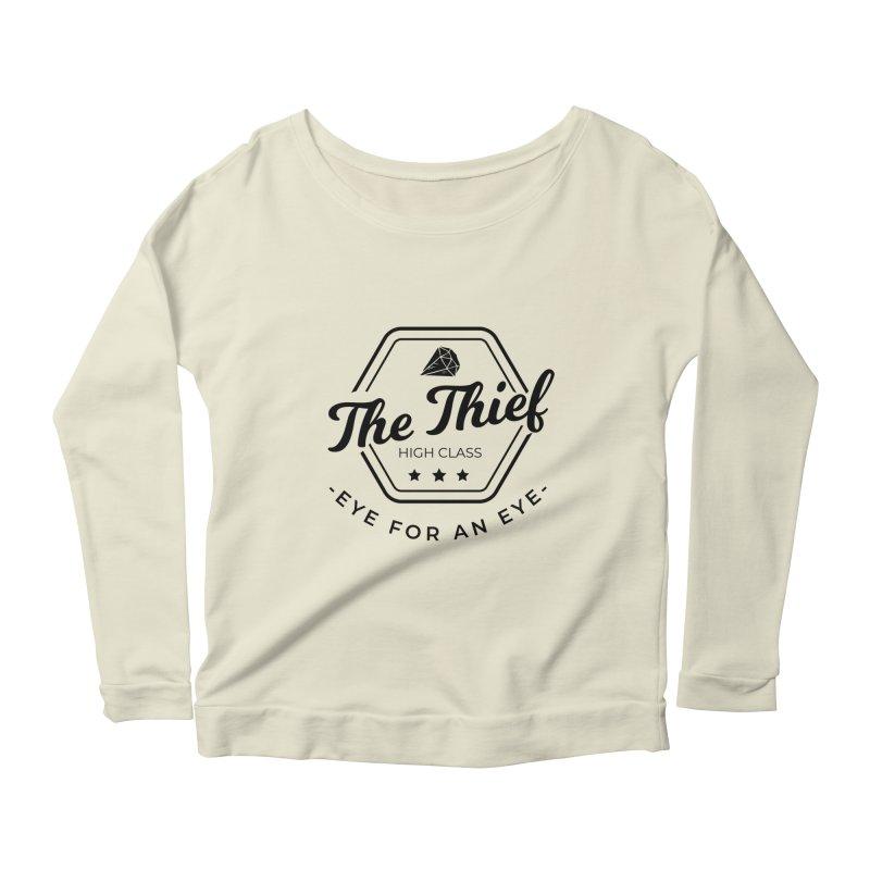 Pippa - Rogue - Black Women's Scoop Neck Longsleeve T-Shirt by fantastic worlds pod's Artist Shop