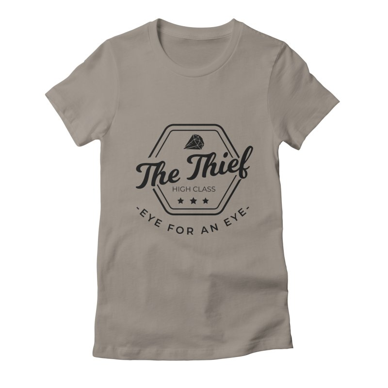 Pippa - Rogue - Black Women's Fitted T-Shirt by fantasticworldspod's Artist Shop