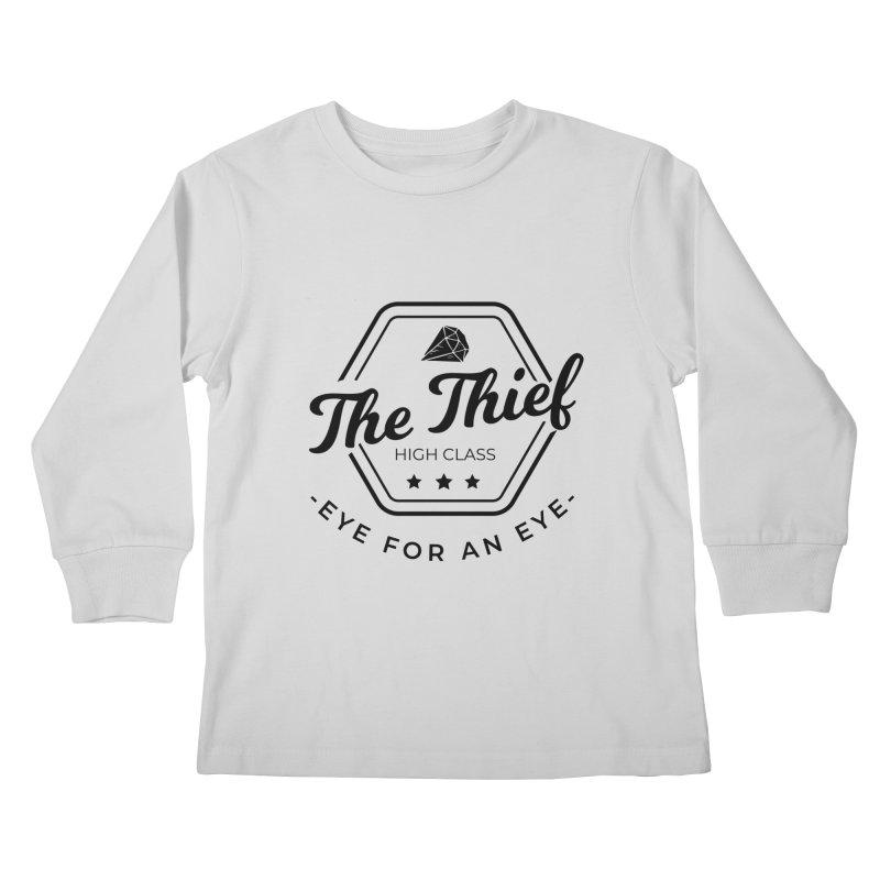 Pippa - Rogue - Black Kids Longsleeve T-Shirt by fantastic worlds pod's Artist Shop