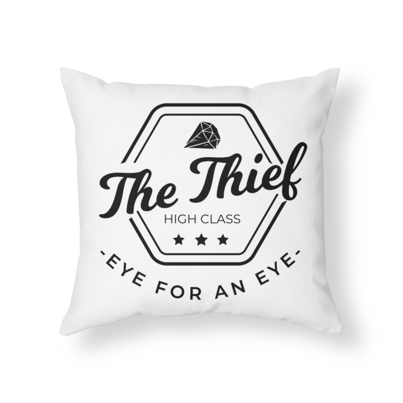 Pippa - Rogue - Black Home Throw Pillow by fantastic worlds pod's Artist Shop