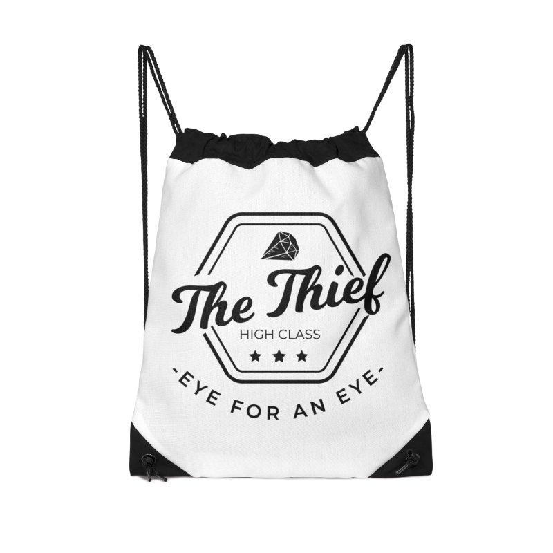 Pippa - Rogue - Black Accessories Drawstring Bag Bag by fantastic worlds pod's Artist Shop