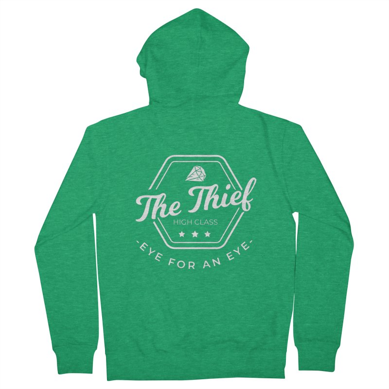 Pippa -  Rogue - White Men's Zip-Up Hoody by Fantastic Worlds Podcast  Shop