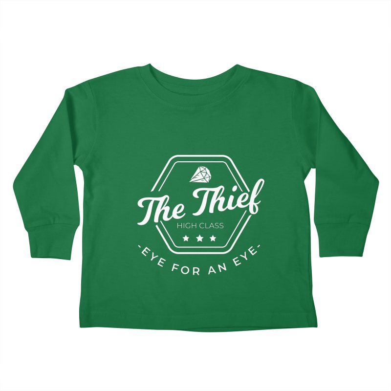 Pippa -  Rogue - White Kids Toddler Longsleeve T-Shirt by fantastic worlds pod's Artist Shop