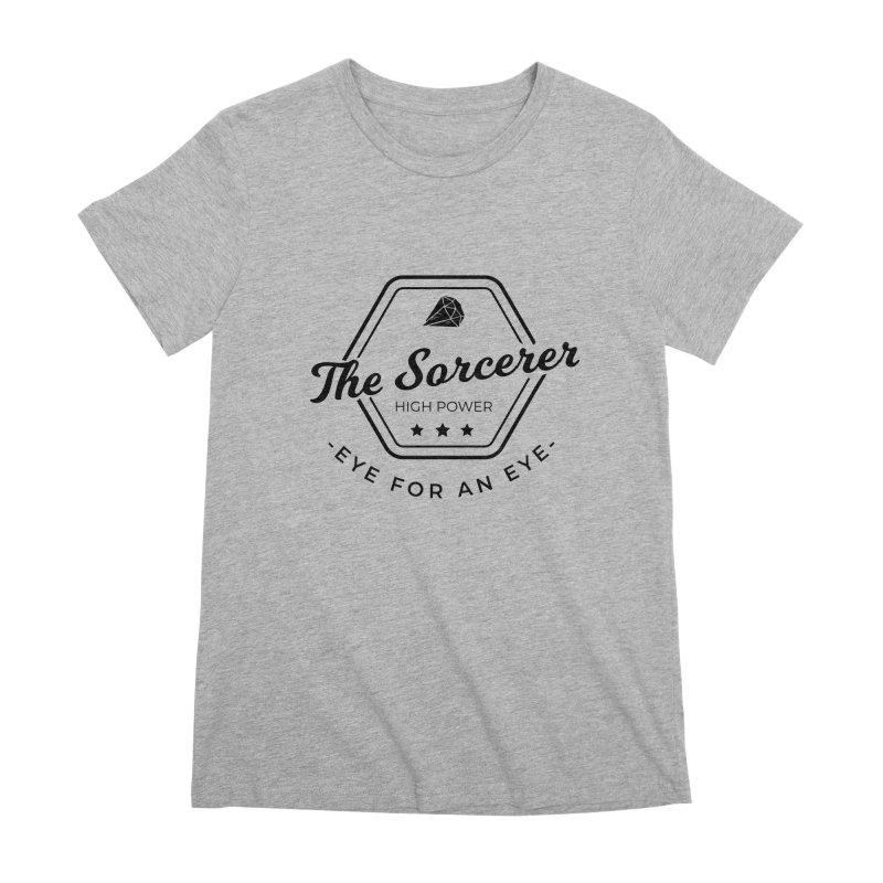 Pippa - Sorcerer - Black Women's Premium T-Shirt by fantastic worlds pod's Artist Shop