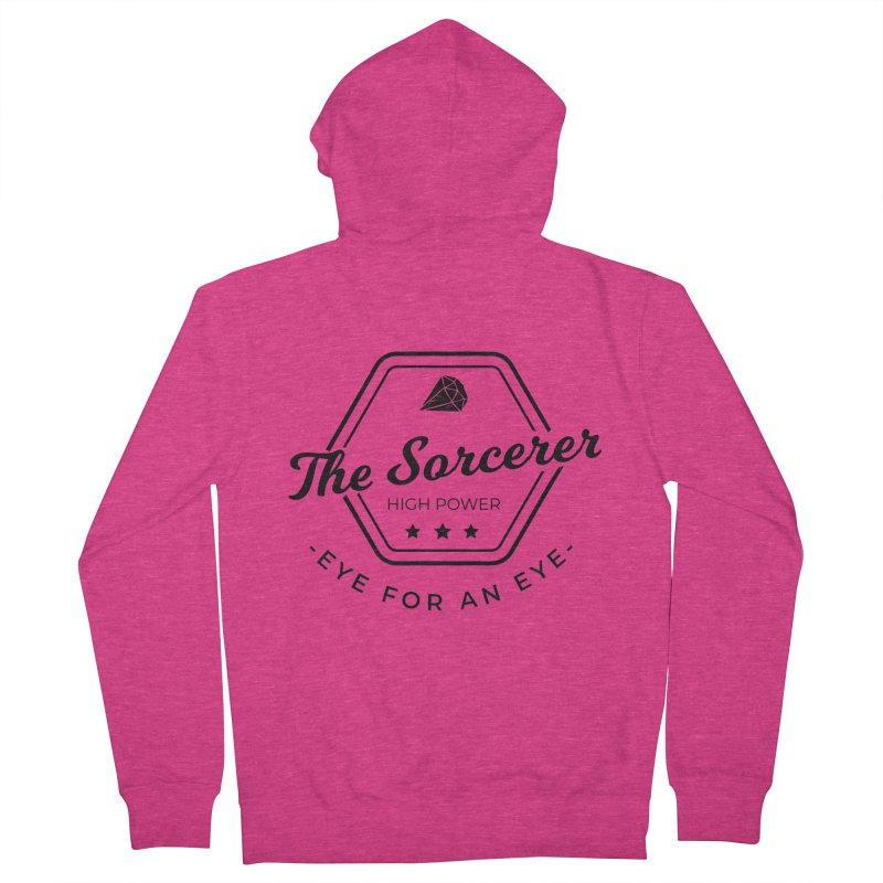 Pippa - Sorcerer - Black Women's French Terry Zip-Up Hoody by fantastic worlds pod's Artist Shop
