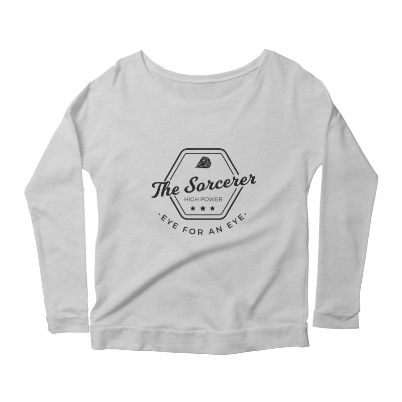 Pippa - Sorcerer - Black Women's Scoop Neck Longsleeve T-Shirt by Fantastic Worlds Podcast  Shop