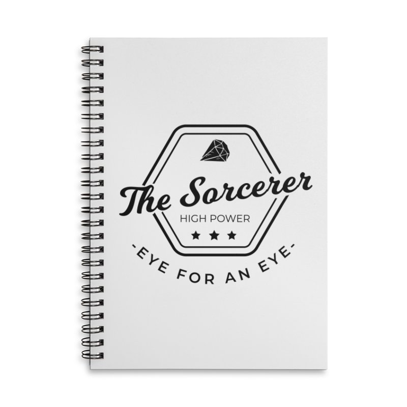 Pippa - Sorcerer - Black Accessories Lined Spiral Notebook by fantastic worlds pod's Artist Shop