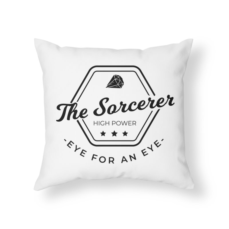Pippa - Sorcerer - Black Home Throw Pillow by fantastic worlds pod's Artist Shop