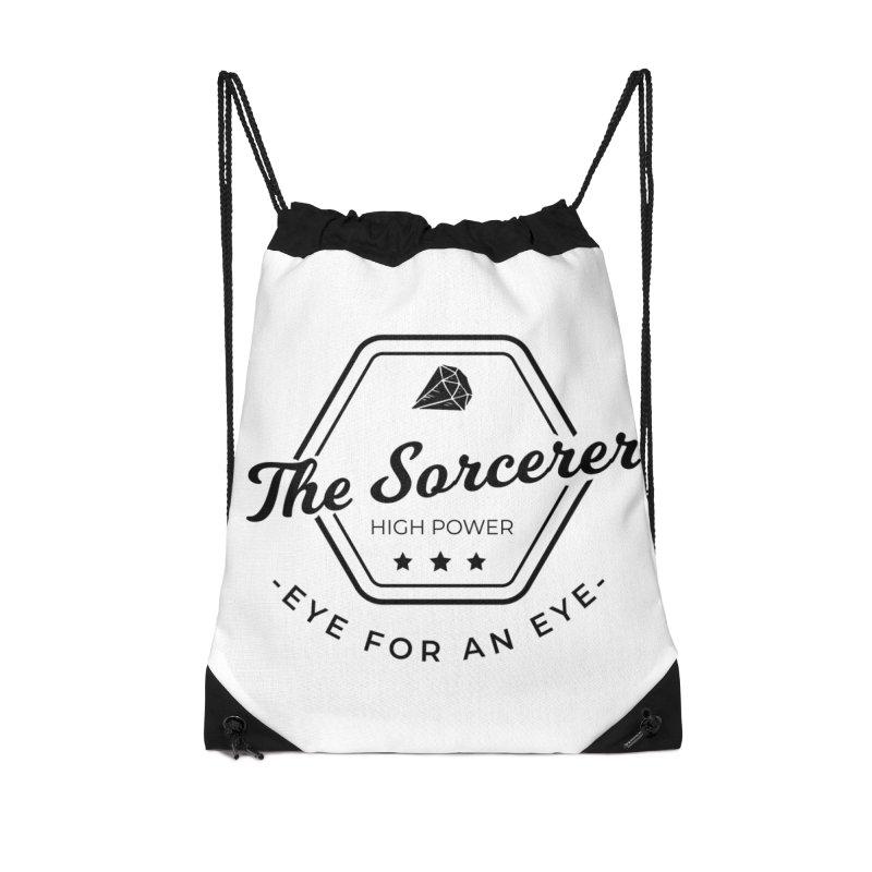 Pippa - Sorcerer - Black Accessories Drawstring Bag Bag by fantastic worlds pod's Artist Shop