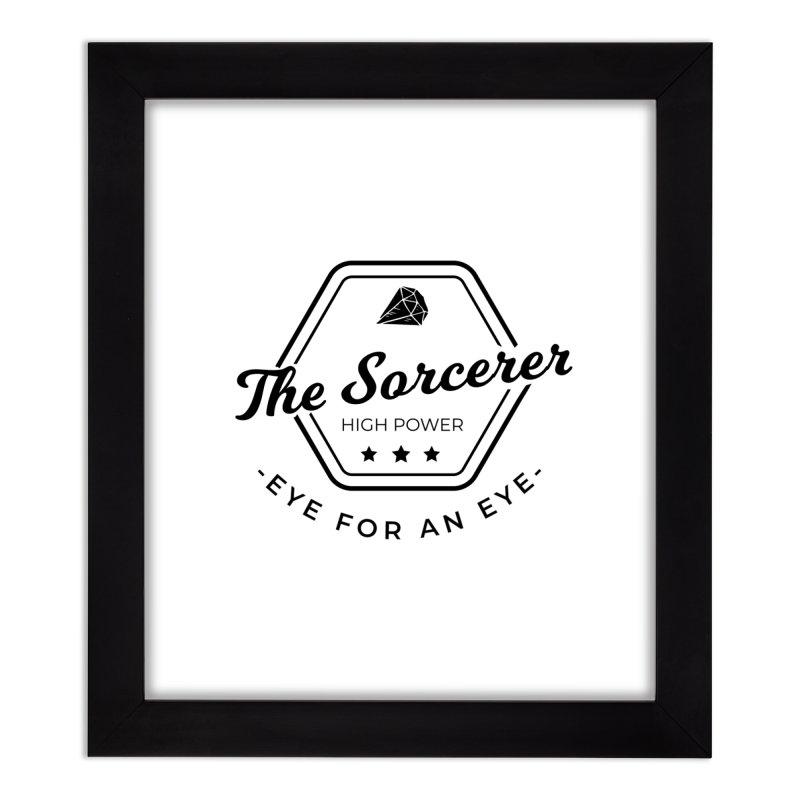 Pippa - Sorcerer - Black Home Framed Fine Art Print by Fantastic Worlds Podcast  Shop