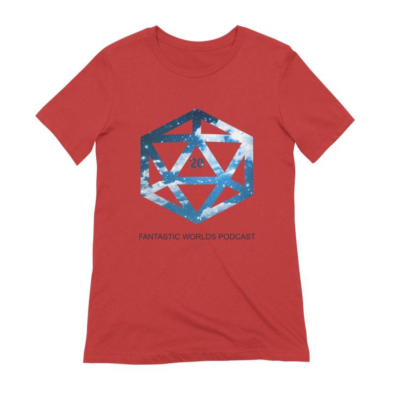 Logo - Black Text Women's T-Shirt by Fantastic Worlds Podcast  Shop