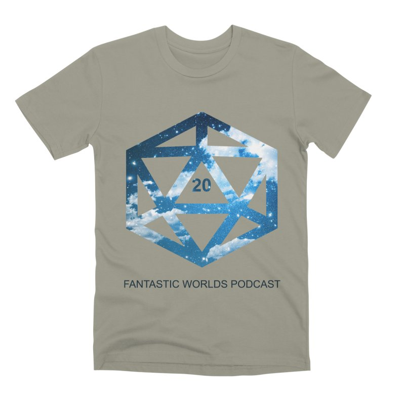 Logo - Black Text Men's Premium T-Shirt by fantastic worlds pod's Artist Shop