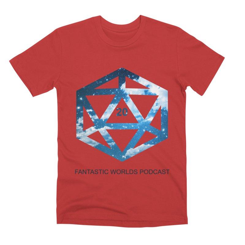 Logo - Black Text Men's Premium T-Shirt by Fantastic Worlds Podcast  Shop