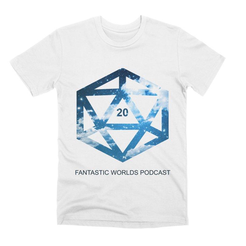 Logo - Black Text Men's T-Shirt by Fantastic Worlds Podcast  Shop