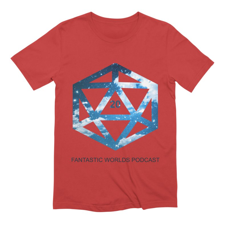 Logo - Black Text Men's Extra Soft T-Shirt by fantastic worlds pod's Artist Shop