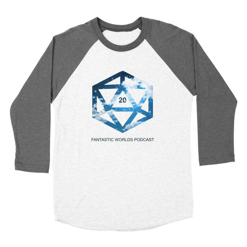 Logo - Black Text Women's Longsleeve T-Shirt by Fantastic Worlds Podcast  Shop