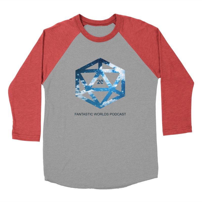 Logo - Black Text Men's Longsleeve T-Shirt by Fantastic Worlds Podcast  Shop