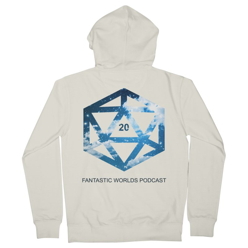 Logo - Black Text Men's Zip-Up Hoody by Fantastic Worlds Podcast  Shop