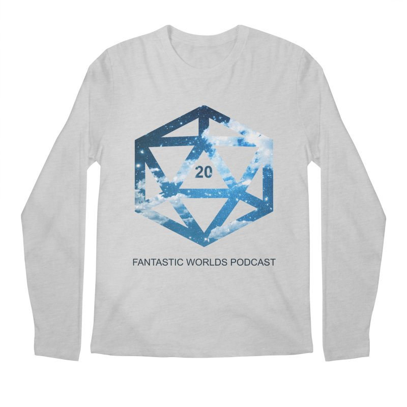 Logo - Black Text Men's Regular Longsleeve T-Shirt by fantastic worlds pod's Artist Shop