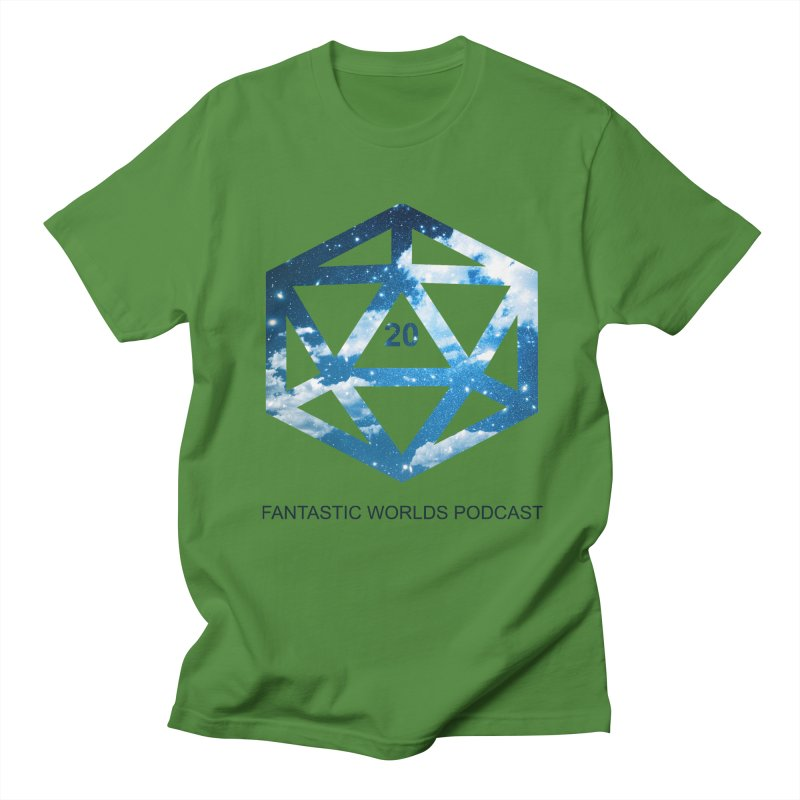 Logo - Black Text Men's Regular T-Shirt by fantastic worlds pod's Artist Shop