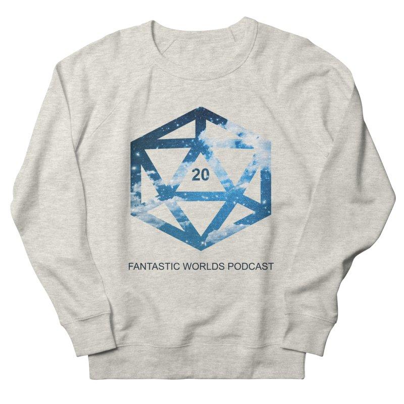 Logo - Black Text Men's French Terry Sweatshirt by fantastic worlds pod's Artist Shop