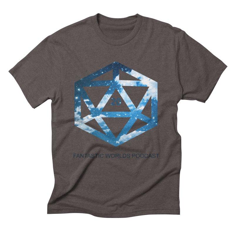Logo - Black Text Men's Triblend T-Shirt by Fantastic Worlds Podcast  Shop