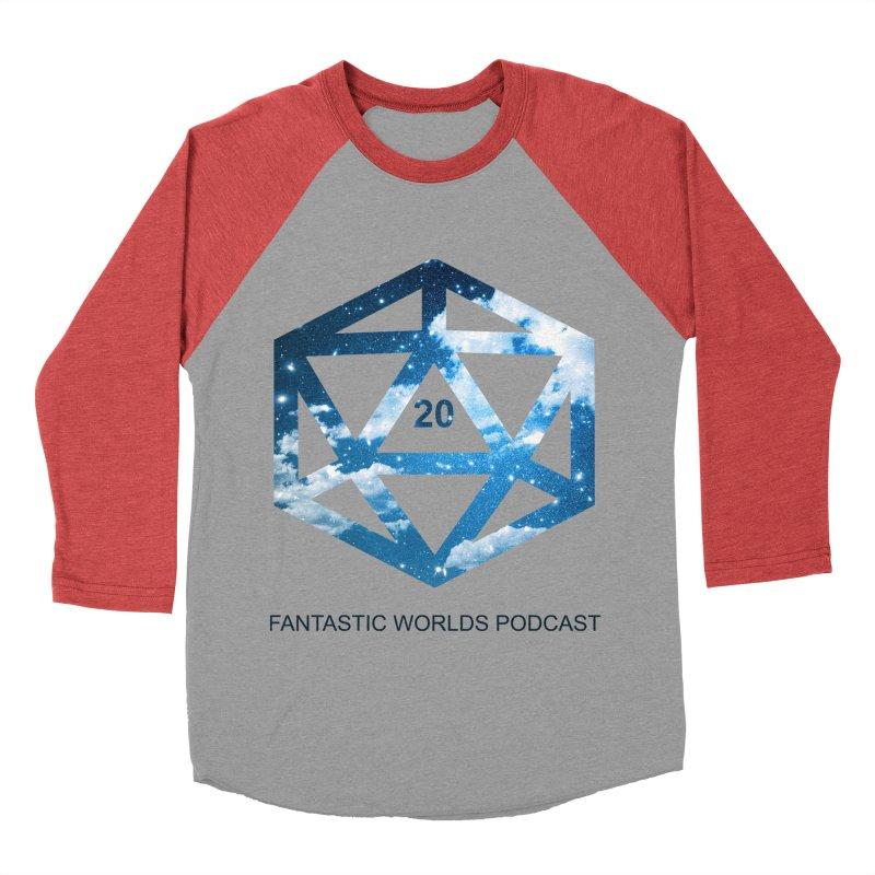 Logo - Black Text Men's Baseball Triblend Longsleeve T-Shirt by fantastic worlds pod's Artist Shop