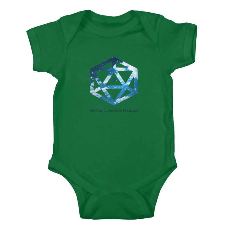 Logo - Black Text Kids Baby Bodysuit by Fantastic Worlds Podcast  Shop
