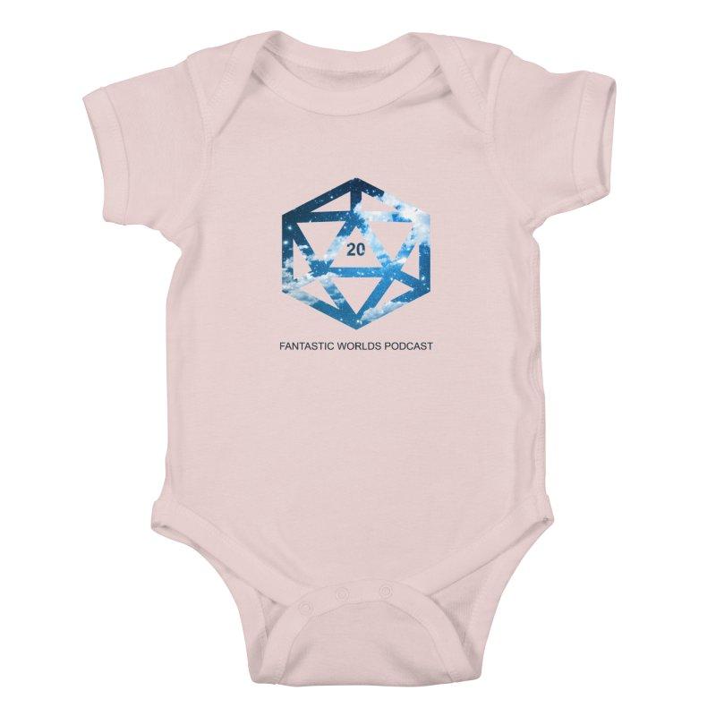Logo - Black Text Kids Baby Bodysuit by fantasticworldspod's Artist Shop