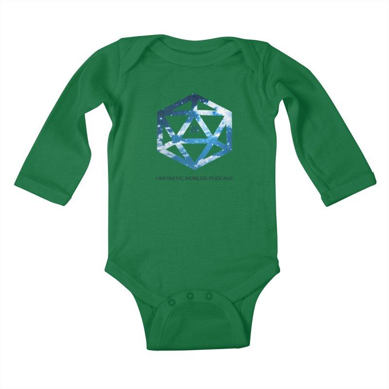 Logo - Black Text Kids Baby Longsleeve Bodysuit by fantasticworldspod's Artist Shop
