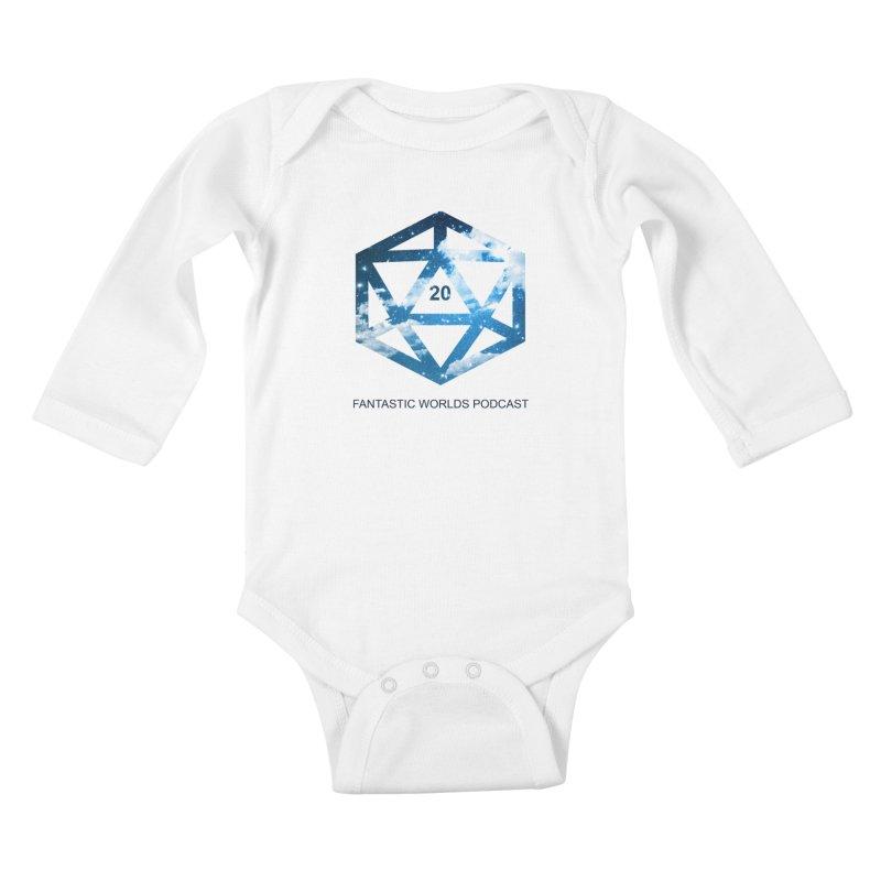 Logo - Black Text Kids Baby Longsleeve Bodysuit by fantastic worlds pod's Artist Shop