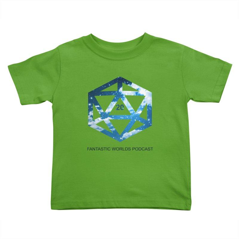 Logo - Black Text Kids Toddler T-Shirt by Fantastic Worlds Podcast  Shop