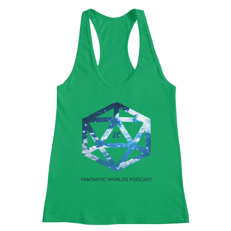 Logo - Black Text Women's Tank by Fantastic Worlds Podcast  Shop