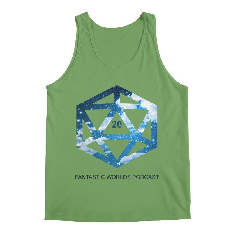 Logo - Black Text Men's Tank by Fantastic Worlds Podcast  Shop