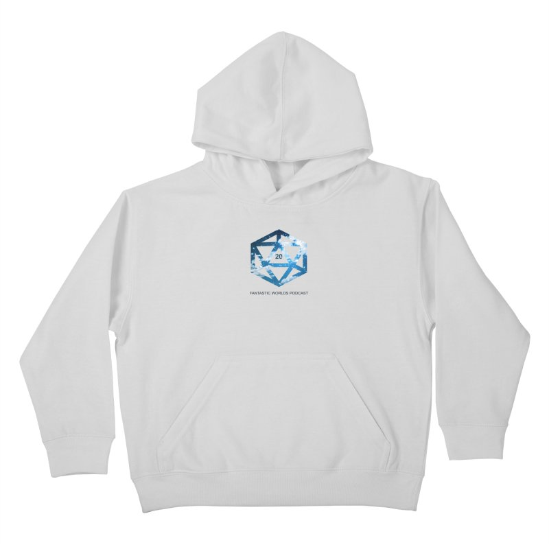 Logo - Black Text Kids Pullover Hoody by Fantastic Worlds Podcast  Shop
