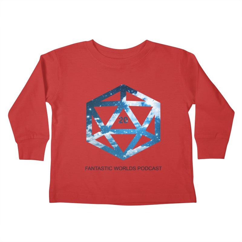 Logo - Black Text Kids Toddler Longsleeve T-Shirt by fantasticworldspod's Artist Shop