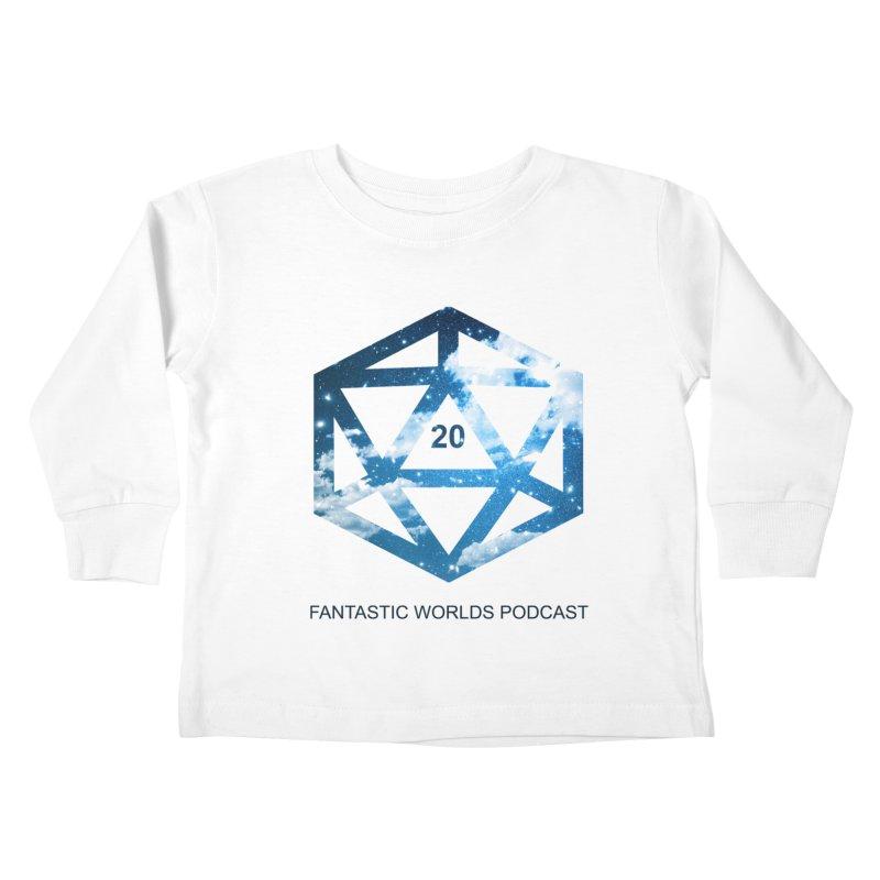 Logo - Black Text Kids Toddler Longsleeve T-Shirt by Fantastic Worlds Podcast  Shop