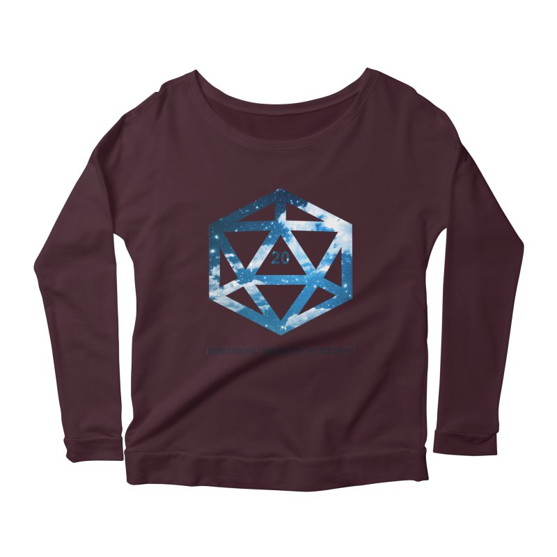 Logo - Black Text Women's Scoop Neck Longsleeve T-Shirt by fantastic worlds pod's Artist Shop