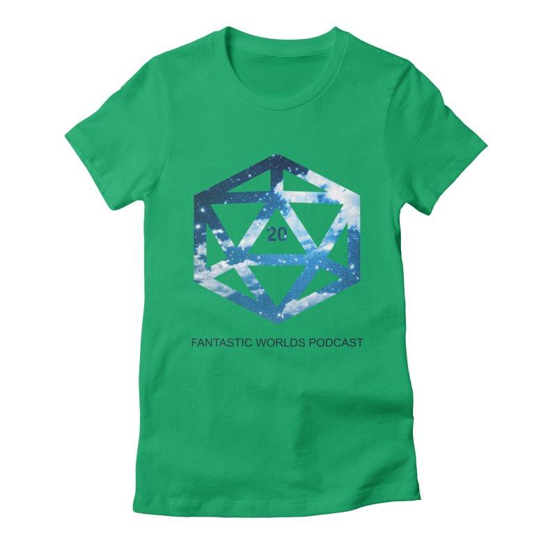 Logo - Black Text Women's Fitted T-Shirt by fantasticworldspod's Artist Shop