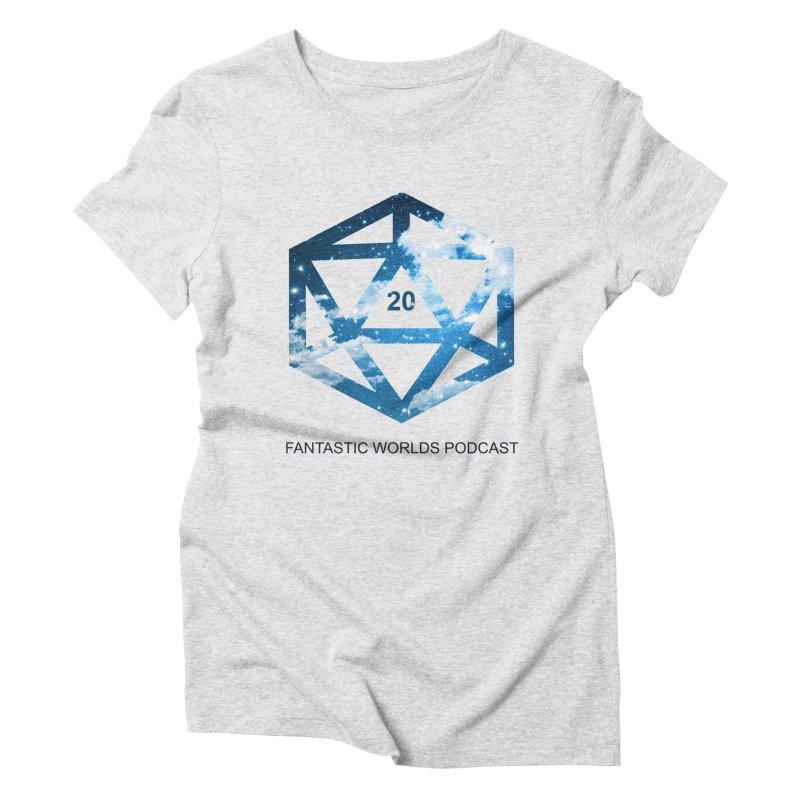 Logo - Black Text Women's Triblend T-Shirt by fantastic worlds pod's Artist Shop