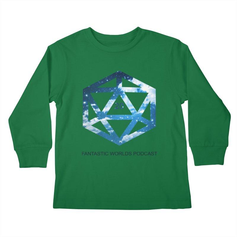Logo - Black Text Kids Longsleeve T-Shirt by Fantastic Worlds Podcast  Shop