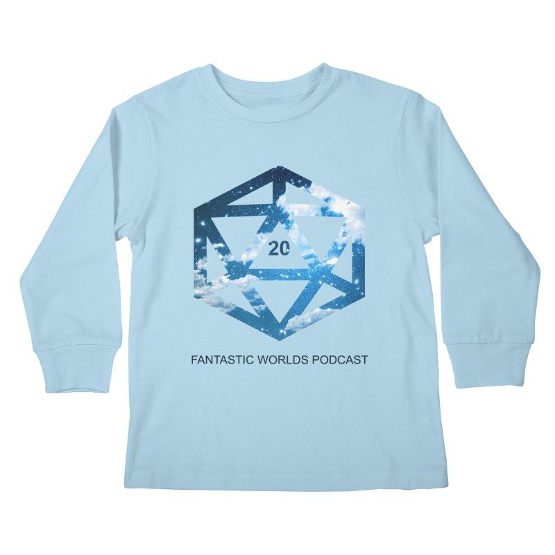 Logo - Black Text Kids Longsleeve T-Shirt by fantastic worlds pod's Artist Shop