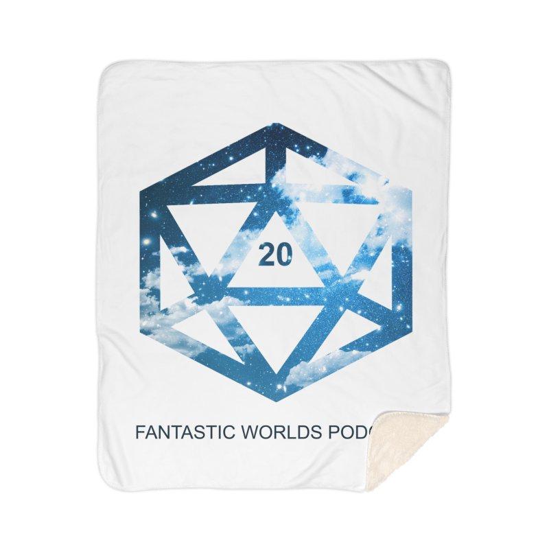 Logo - Black Text Home Sherpa Blanket Blanket by fantastic worlds pod's Artist Shop