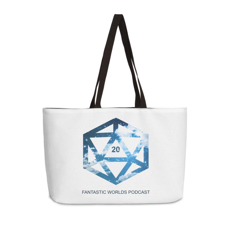 Logo - Black Text Accessories Weekender Bag Bag by fantastic worlds pod's Artist Shop