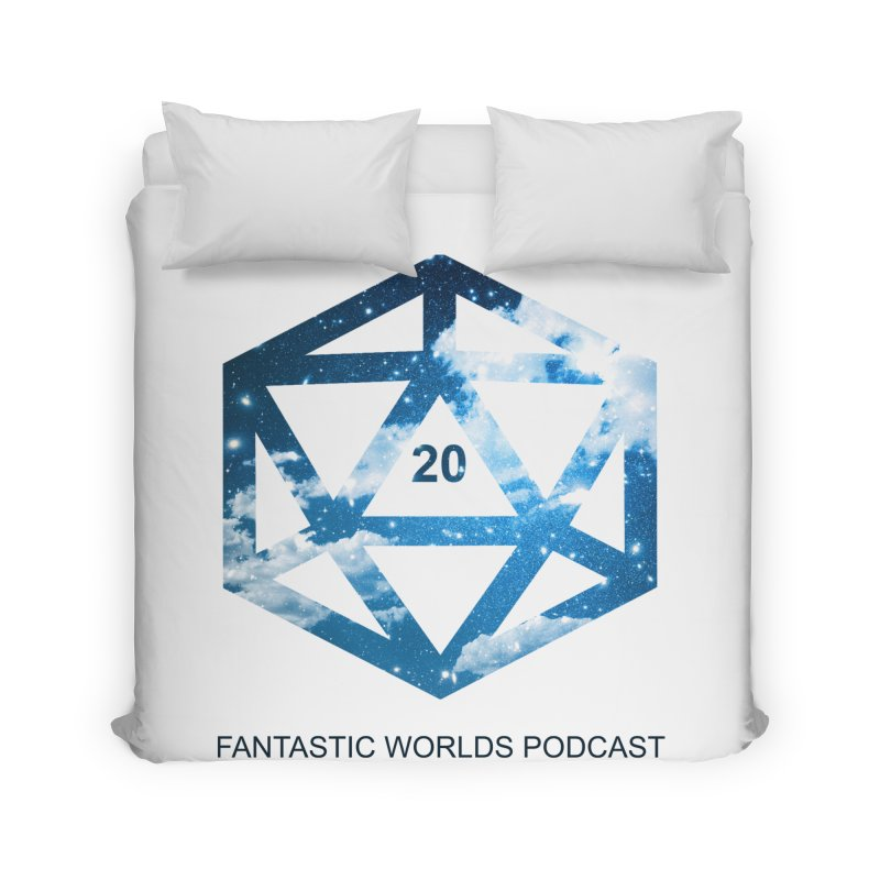 Logo - Black Text Home Duvet by Fantastic Worlds Podcast  Shop