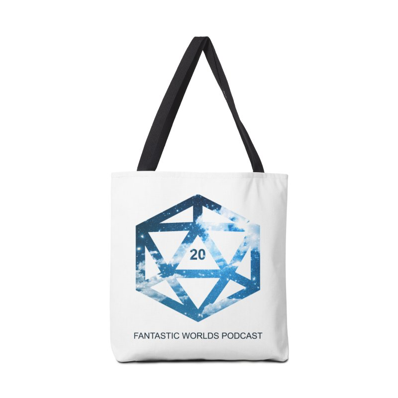Logo - Black Text Accessories Tote Bag Bag by fantastic worlds pod's Artist Shop