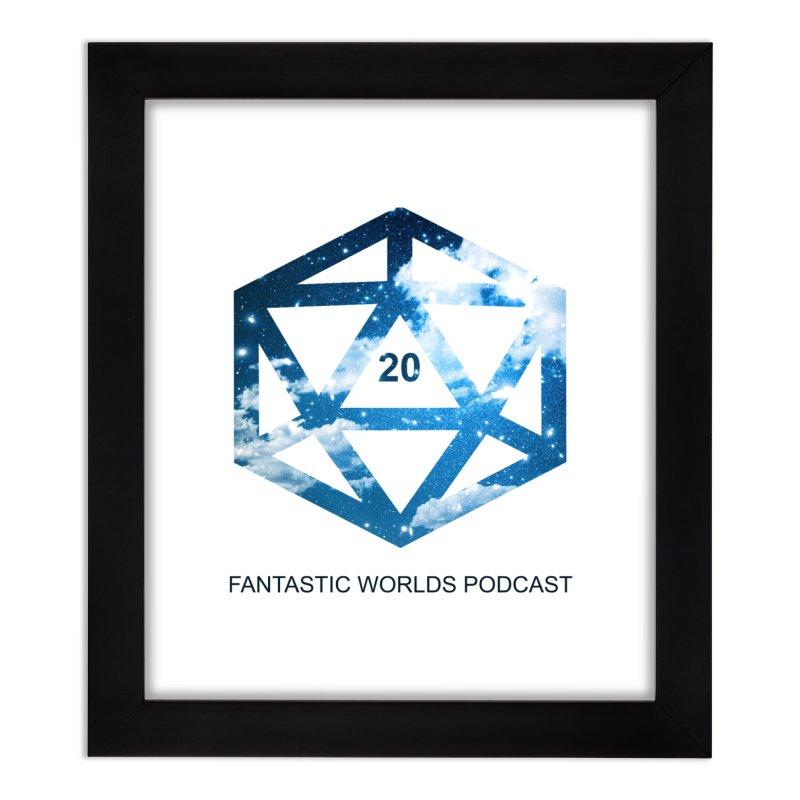 Logo - Black Text Home Framed Fine Art Print by Fantastic Worlds Podcast  Shop
